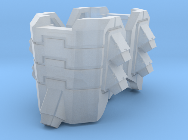 Tsunami Thruster Leg Guards in Smooth Fine Detail Plastic