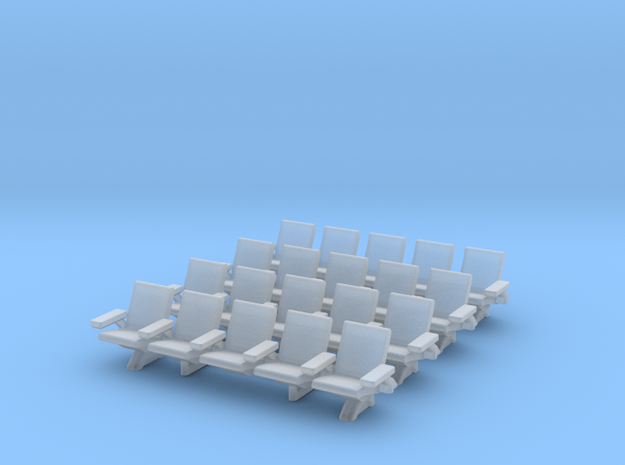 HO Scale Waiting Room Seats 4x5 in Smooth Fine Detail Plastic