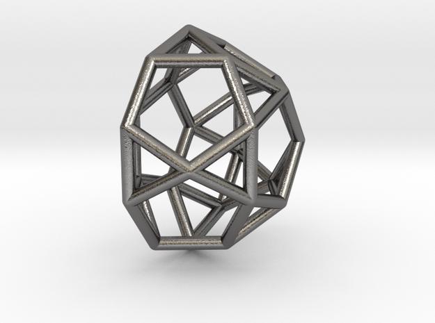 0809 J32 Pentagonal Orthocupolarotunda (a=1cm) #1 in Polished Nickel Steel