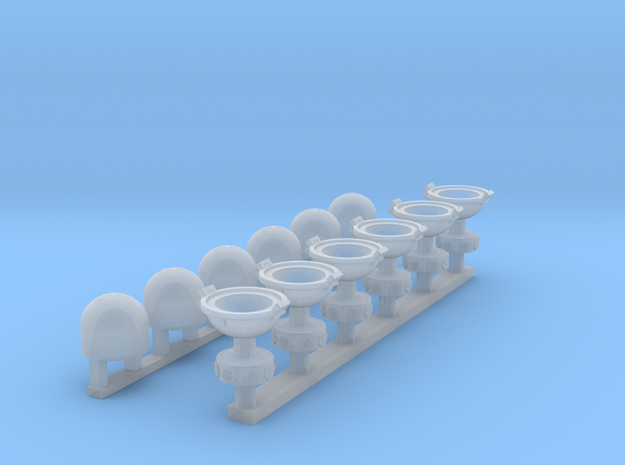 Rebellious Ice Base: Ground Lights 1:72 in Smooth Fine Detail Plastic