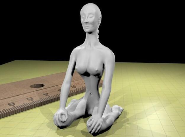 Virasana S 3d printed plastic rendering
