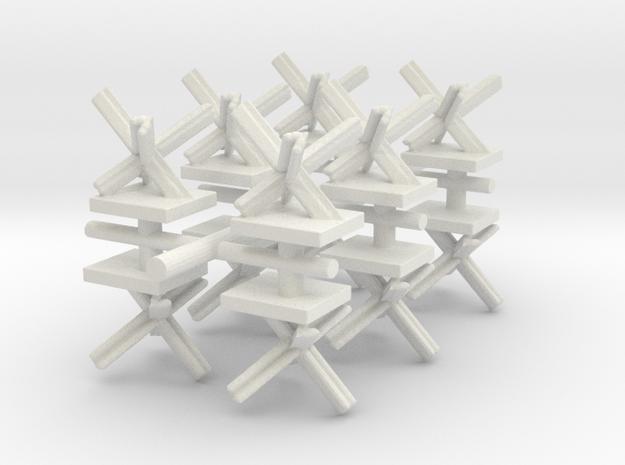 Czech Hedgehog x12 in White Natural Versatile Plastic