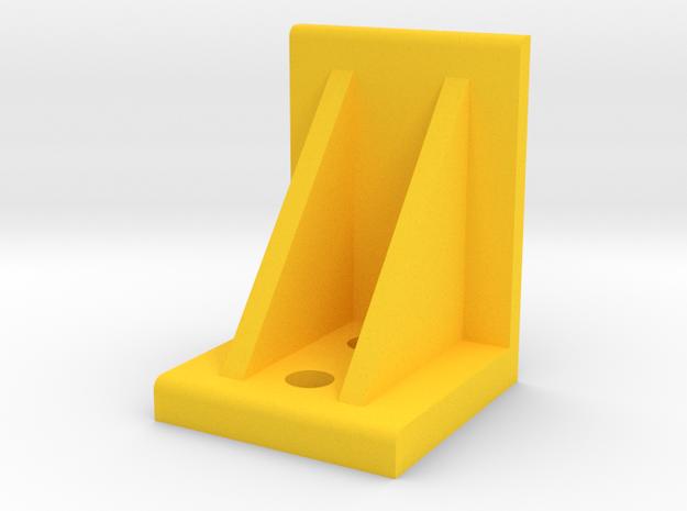 Plastic Shelf Support in Yellow Processed Versatile Plastic