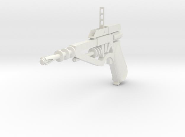 TOMORROW PEOPLE STUN GUN WITH STRAIGHT HANDLE in White Natural Versatile Plastic