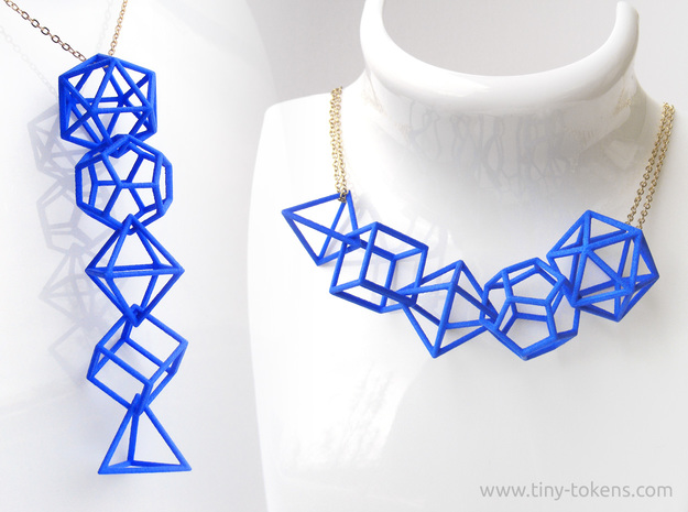 Platonic Solids Wireframe Pendant