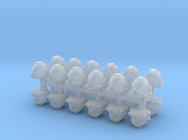 1/87 Space Infantry Helmets (24pcs) in Smoothest Fine Detail Plastic