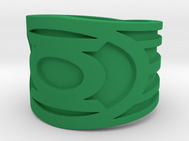 Green Lantern Ring  in Green Processed Versatile Plastic: 10.5 / 62.75
