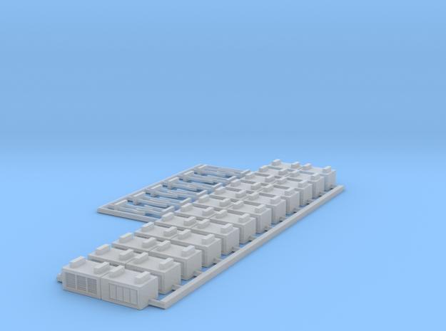 1:400 12x Preconditioned Air Unit Jetbridge w Hose in Smooth Fine Detail Plastic
