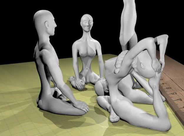 Asana set S 3d printed plastic rendering