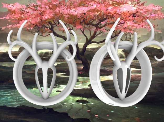 1 & 15/16 inch Antler Tunnels in White Processed Versatile Plastic