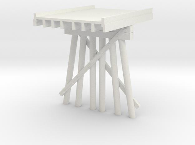 Part B Deck Trestle N (1:160) Modular Six Piles in White Natural Versatile Plastic