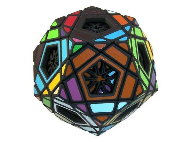 Ad for Multidodecahedron 3d printed Scrambled