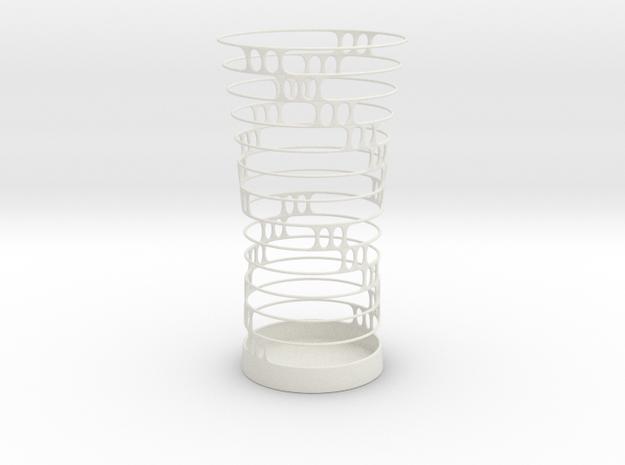 Penholder 14cm in White Natural Versatile Plastic