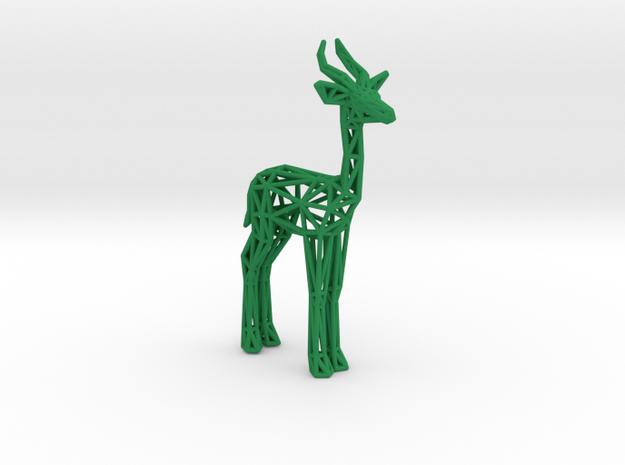 Gerenuk in Green Processed Versatile Plastic