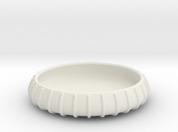 YZY coaster catch all bowl in White Natural Versatile Plastic