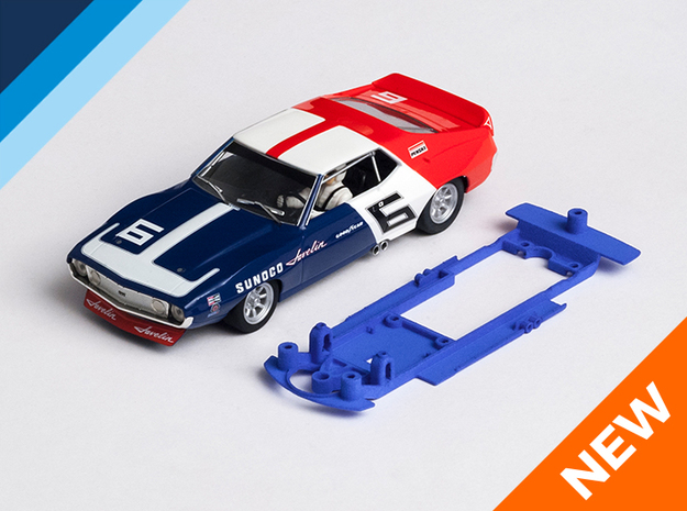 1/32 Scalextric AMC Javelin Chassis for Slot.it SW in Blue Processed Versatile Plastic