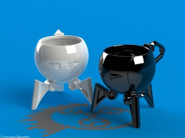 T-Cup01 | Robot Teacup 3d printed Concept Render