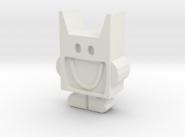 Mr Bat in White Natural Versatile Plastic