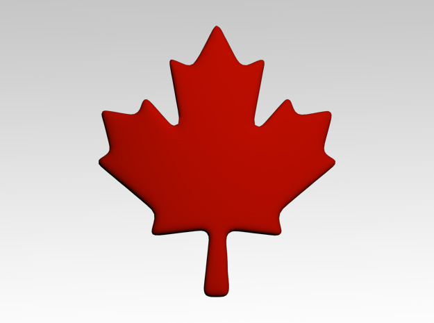 Maple Leaf Shoulder Icons x50 in Smooth Fine Detail Plastic