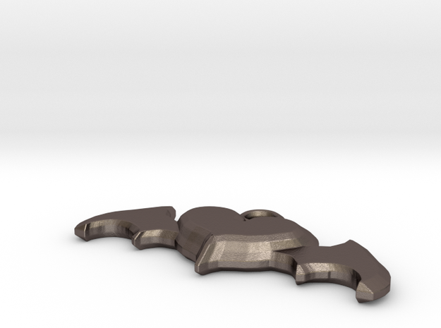 Batheart in Polished Bronzed-Silver Steel