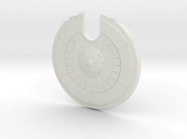 1400 Sentinel Saucer in White Natural Versatile Plastic