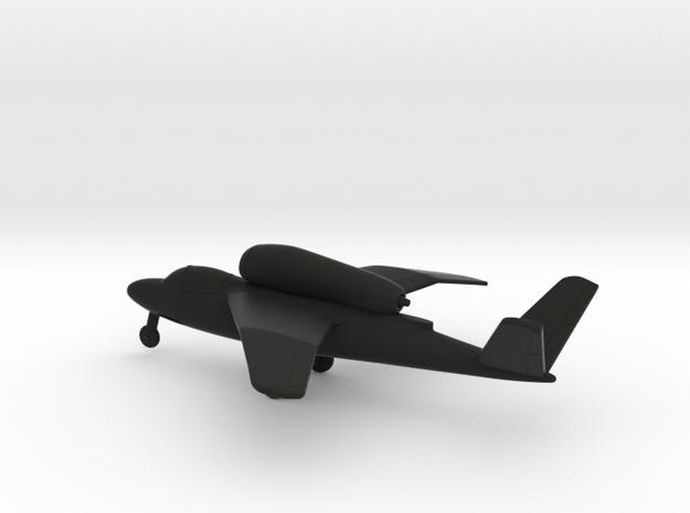 Heinkel He 162C Salamander in Black Natural Versatile Plastic: 1:144