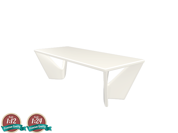 Miniature Suspens Dining Table - Roche Bobois  in White Natural Versatile Plastic: 1:24