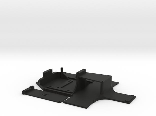 ta02/ff Custom Chassis. Lipo Compatible. in Black Natural Versatile Plastic