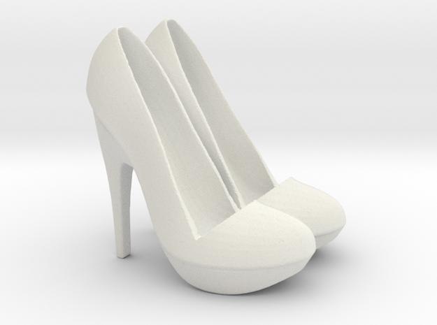 Shoe Phone/Tablet holder in White Natural Versatile Plastic
