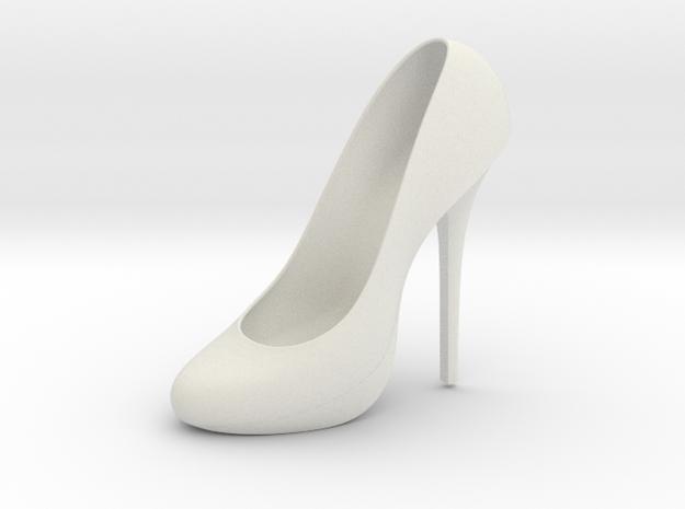 Left Classic Pumps Shoe in White Natural Versatile Plastic