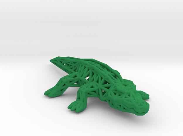 Nile Crocodile in Green Processed Versatile Plastic