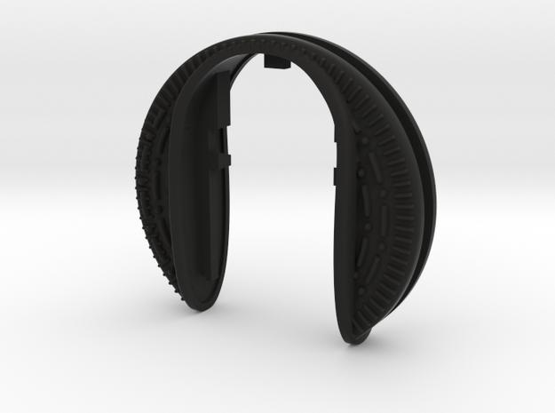 Cookie Key Fob  in Black Natural Versatile Plastic