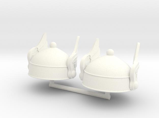 GAUL HELMET 8 x2 in White Processed Versatile Plastic