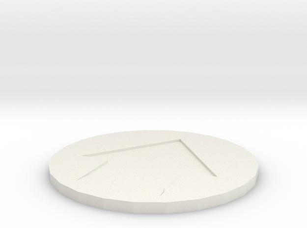 Kill Team Token Movement in White Natural Versatile Plastic