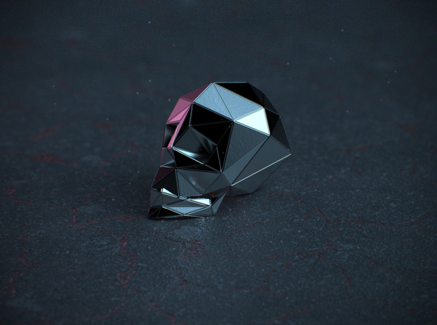 SKULL 2 in Polished Silver