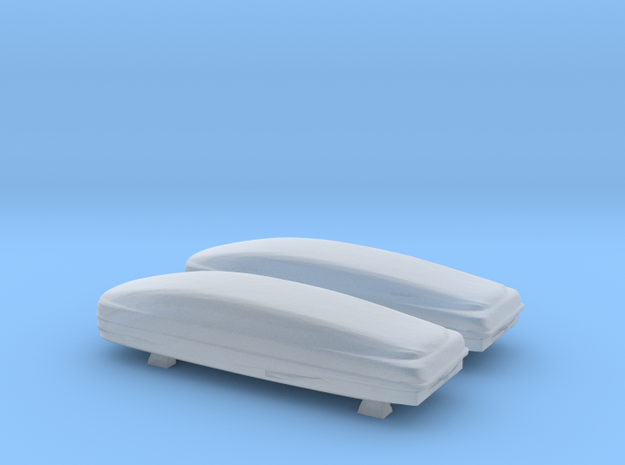 1/64 Dual Thule Roof Cargo Box in Smoothest Fine Detail Plastic