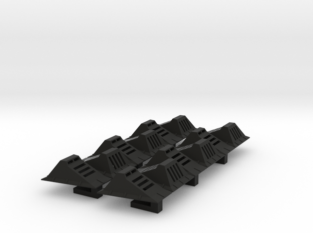 Echo Base Ground Lights 1:43 Tapered - Shapeways in Black Natural Versatile Plastic