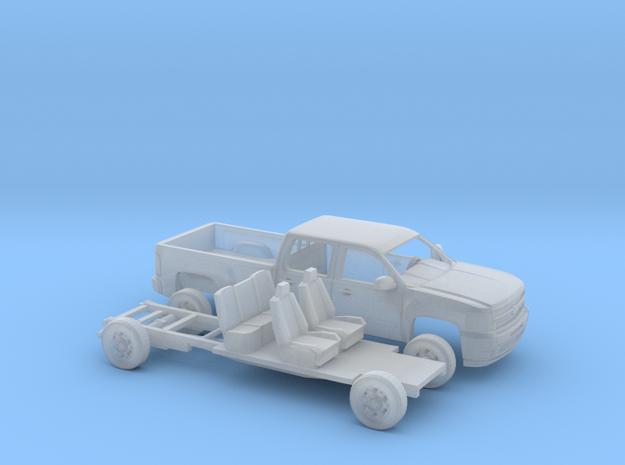 1/160 2007-13 Chevy Silverado CrewCab LongBed Kit in Smooth Fine Detail Plastic