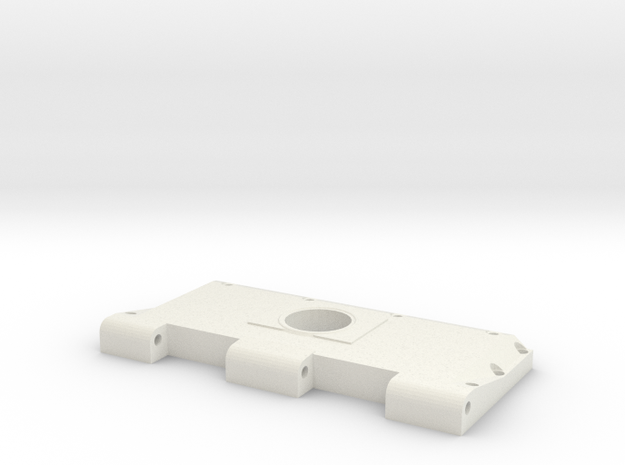 Widerlager Lüftergitter, rechts, offen in White Natural Versatile Plastic