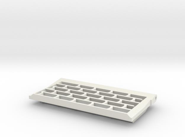 Tiger I, Abluftgitter, Initial+Früh, links, 1:10 in White Natural Versatile Plastic