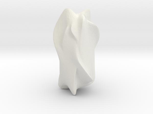 Blob 12 in White Natural Versatile Plastic: 6mm