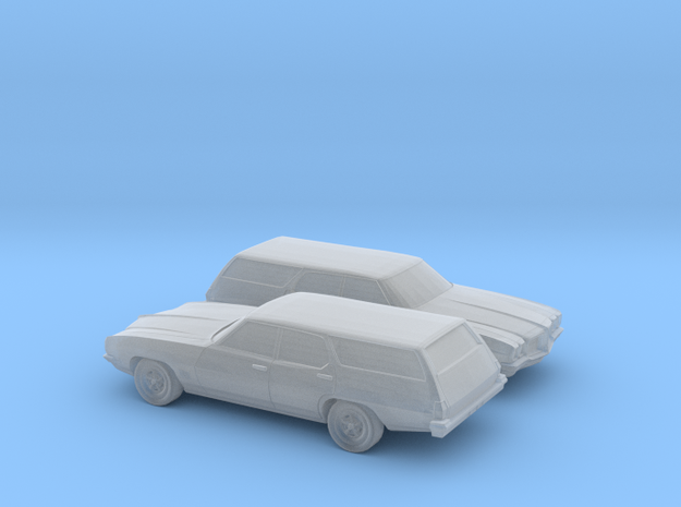 1/160 2X 1968-72 Pontiac Le Mans Station Wagon in Smooth Fine Detail Plastic