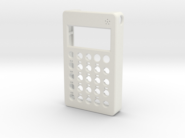 PO case front w/ mic holes in White Natural Versatile Plastic