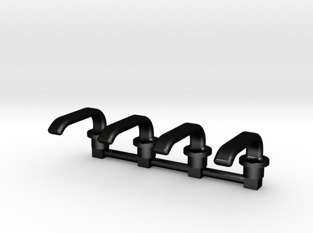 Hood Door Handles in Matte Black Steel