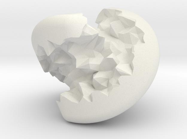 Geode Sphericon in White Natural Versatile Plastic