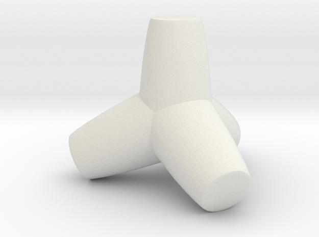 Tetrapod Concrete Tank Barricade in White Natural Versatile Plastic: 1:220 - Z