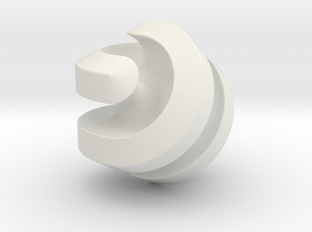 Hexasphericon Channels in White Natural Versatile Plastic