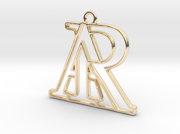 Monogram with initials A&R in 14k Gold Plated Brass
