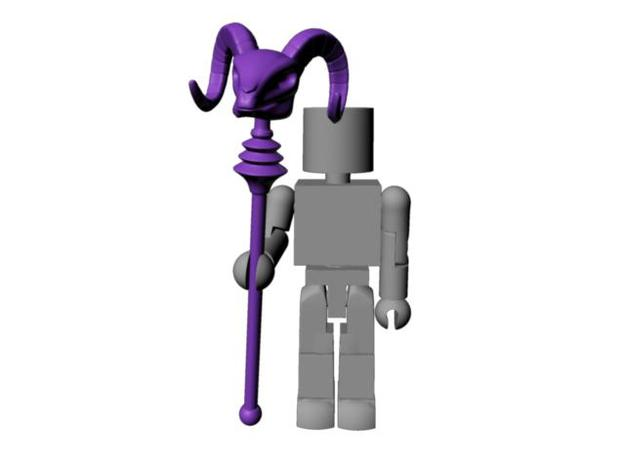 Skeletor's Havoc Staff scaled for Minimates in White Strong & Flexible Polished