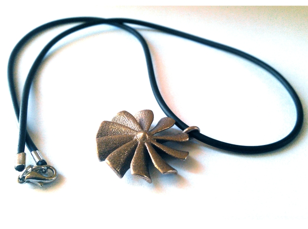 Turbine pendant (cm 2,6) in Polished Bronzed Silver Steel